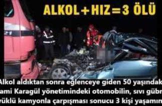 Alkollü araç kullanmanın zararları ve trafik kazaları