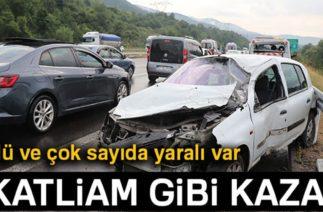 Bolu'da Zincirleme Trafik Kazası: Ölü ve Yaralılar Var!