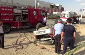 Karaman'da Trafik Kazası! Otomobil Takla Attı: 2 Ölü, 3 Yaralı