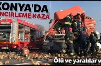 Konya'da Trafik Kazası, 33 Araç Birbirine Girdi, 1 Ölü, 2'si Ağır 7 Yaralı