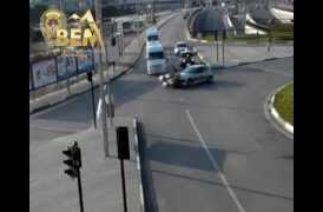 Trafik kazaları MOBESE kameralarında Bursa Bölge