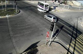 Uşak'taki trafik kazaları kameralara böyle yansıdı