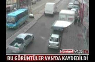 Van'da son iki ay içinde meydana gelen trafik kazaları mobese kameraları