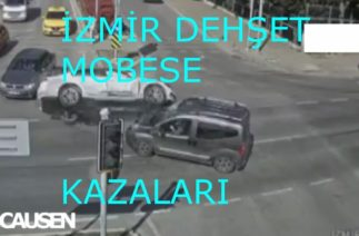 İZMİR'DE DEHŞET TRAFİK KAZALARI MOBESELERE YAKALANDI!!!