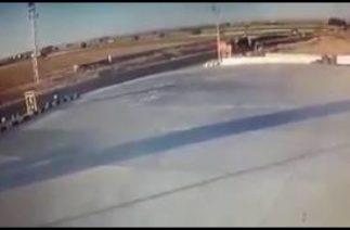 Şanlıurfa Harran yolunda feci trafik kazası kamerada