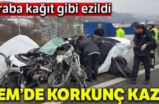 TEM Otoyolunda Korkunç Kaza! 4 Araç Birbirine Girdi: 1 Ölü, 1 Ağır Yaralı