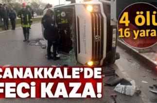 Çanakkale'de Trafik Kazası: 4 Ölü, 16 Yaralı