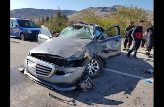 Esat Kabaklı Burdur'da trafik kazası geçirdi