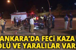 Ankara'da Trafik Kazası: 1 Ölü, 4 Yaralı