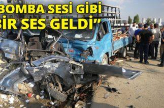 Ankara'da Trafik Kazası: Hurda Yığınına Dönen Araçtan Sağ Çıktı
