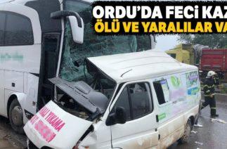 Fatsa'da Trafik Kazası, Yolcu Otobüsü ile Minibüs Çarpıştı