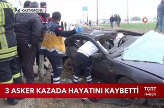 Kastamonu'da Trafik Kazası, 3 Asker Hayatını Kaybetti