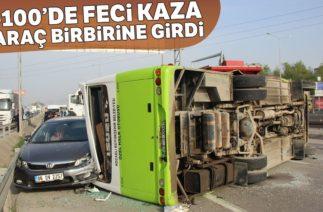 Kocaeli'de Trafik Kazası! D-100'de 6 Araç Birbirine Girdi