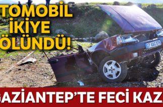 Otomobil İkiye Bölündü: 1 Ölü | Gaziantep Trafik Kazası