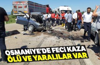 Kadirli'de Zincirleme Trafik Kazası; 3 Ölü, 4 Yaralı