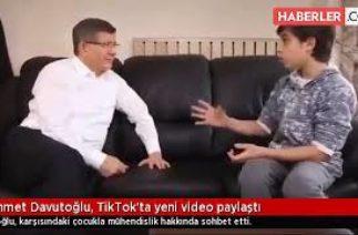 Ahmet Davutoğlu, TikTok'ta yeni video paylaştı