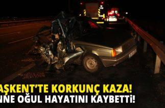 Ankara'da Trafik Kazası! Anne ve Oğlu Feci Hayatını Kaybetti