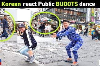 BUDOTS dance 2020 (Part 1) – Pinoy-Korean reaction in public street tiktok dance
