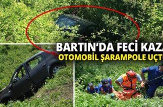 Bartın'da Trafik Kazası, Otomobil Şarampole Uçtu: 2 Ölü