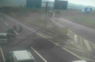 Bozüyük'te trafik kazaları saniye saniye MOBESE'ye yansıdı