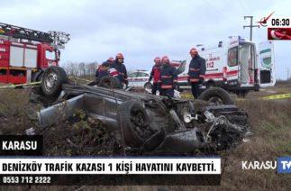 Denizköy Trafik Kazası. 1 Ölü ( Eray Sarıöz )