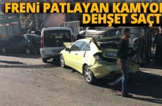 Dinar'da Zincirleme Trafik Kazası! Freni Patlayan Kamyon Dehşet Saçtı