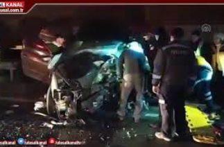 Edirne'de trafik kazası: 3 ölü