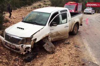 Erdemli'de Trafik Kazası 9 Yaralı