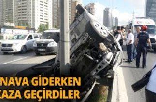 Esenyurt'ta Trafik kazası! Takla Atan Araçtan Burnu Bile Kanamadan Çıktı