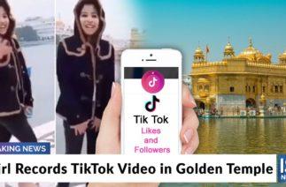 Girl Records TikTok Video in Golden Temple