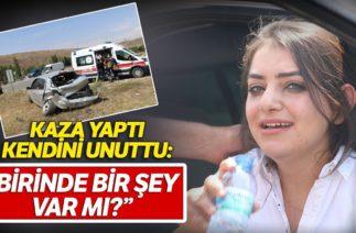 Kaza Yapan Kadın Sürücü Kimsenin Yaralanmadığına İnanmadı