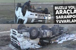Konya'da Gizli Buzlanma Trafik Kazalarına Neden Oldu; 12 Yaralı