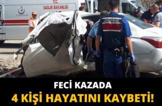 Mamak'ta Trafik Kazası, Otomobil Köprü Ayağına Çarptı: 4 Ölü