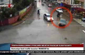 Osmaniye'deki trafik kazaları MOBESE'de