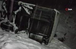 Refahiye'de Trafik Kazası, Yolcu Otobüsü Devrildi, Yaralılar Var