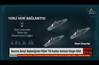 Savunma Sanayii Başkanlığından Müjde! TCG Anadolu Gemisine Entegre Edildi