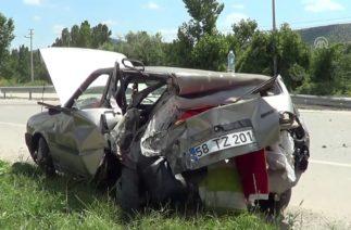Trafik kazası kameralara yansıdı – TOKAT