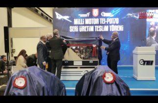 Türkiye'nin ilk turbodizel havacılık motoru için telim töreni