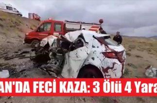 Van'da Feci Trafik Kazası: 3 Ölü 4 Yaralı