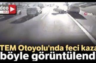 Ümraniye TEM Otoyolu Mevkiinde Trafik Kazası; 2 Kişi Hayatını Kaybetti