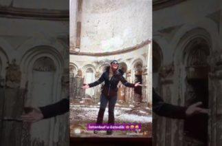 AKP'li bakanın eşinden komik savunma: 'Kilisenin akustiğini test ediyorduk'