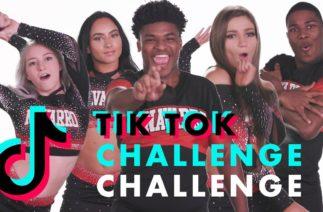 Cast of Netflix's 'Cheer' Dances to Viral TikToks | TikTok Challenge Challenge | Cosmopolitan