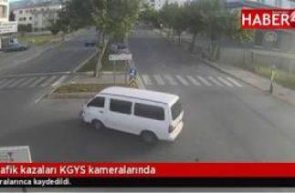 Kahramanmaraş'ta trafik kazaları KGYS kameralarında