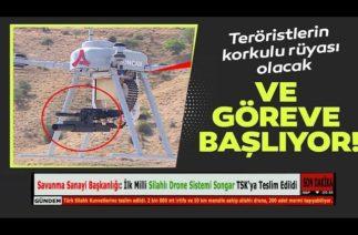 Savunma Sanayi Başkanlığı: İlk Milli Silahlı Drone Sistemi Songar TSK'ya Teslim Edildi