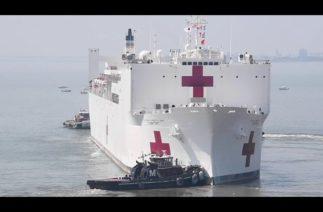 ABD donanmasına ait hastane gemisi bugün New York'ta olacak