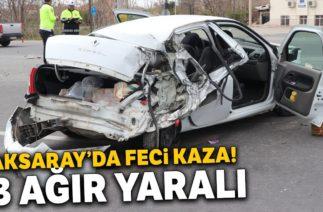 Aksaray'da Trafik Kazası! Otomobil ile Tır Çapıştı