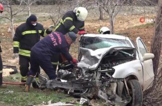 Gaziantep'te Trafik Kazası, İki Araç Kafa Kafaya Çarpıştı: 1 Ölü, 6 Yaralı