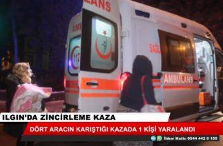Ilgın'da zincirleme trafik kazası: 1 yaralı