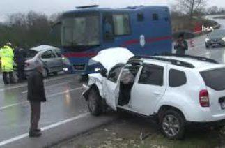Kandıra'da trafik kazası