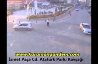 Karaman'da Mobeseye yansıyan trafik kazaları